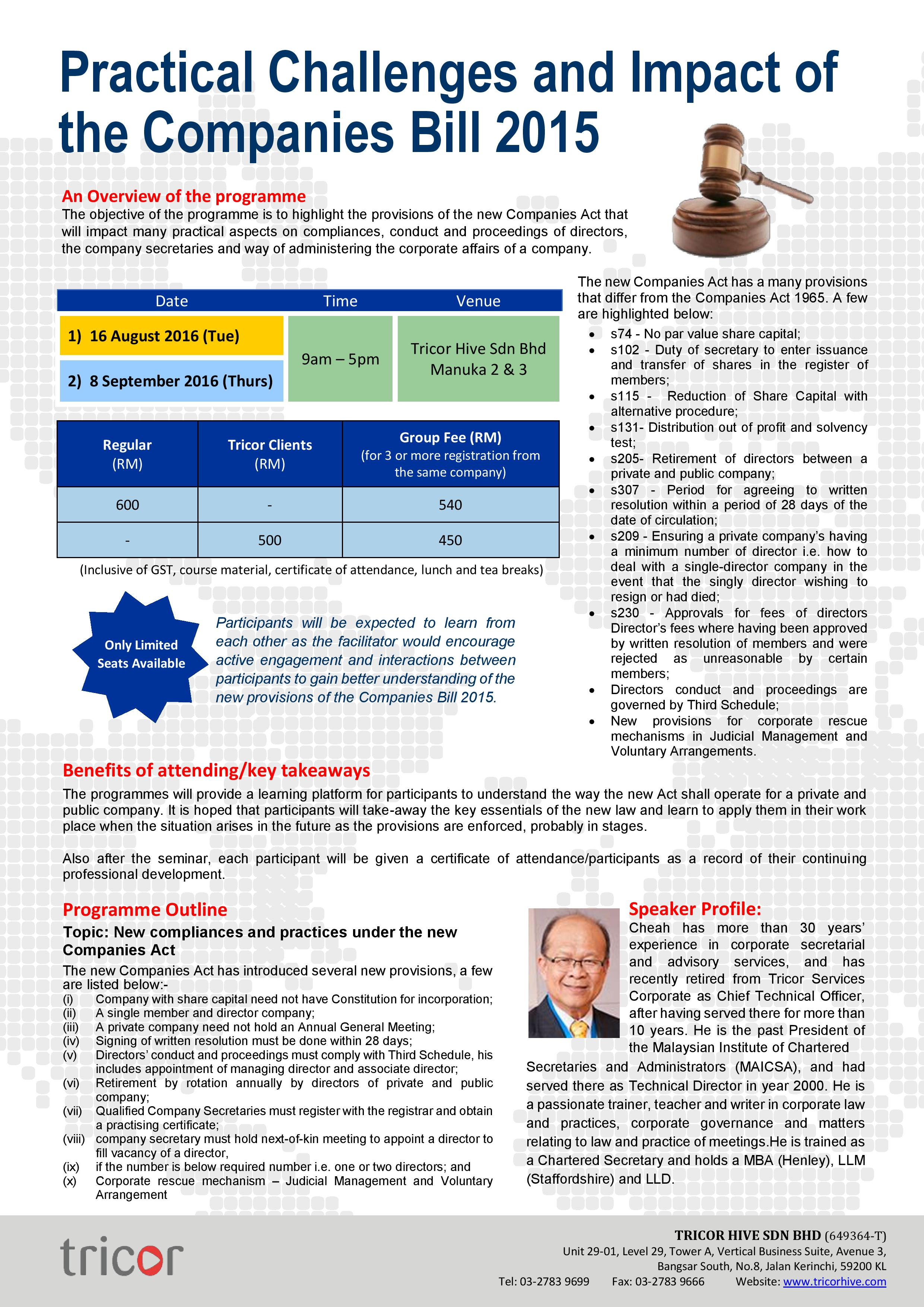 Training on Companies Bill 2016-page-001